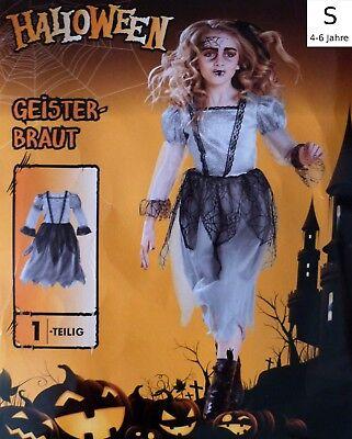 Kinder Karnevals Kostüm S Fasching Halloween Geister Braut Hexe Karneval Hexen  ()