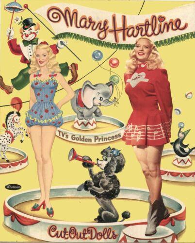 VINTGE UNCUT 1953 MARY HARTLINE PAPER DOLL LASR REPRODUCTIN~LO PR~HI QU FREE SH
