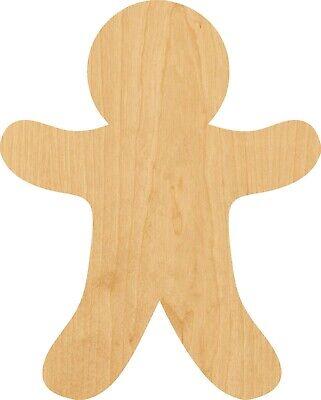 Gingerbread Man Outline #0594 Laser Cut Out Wood Shape Craft Supply - Woodcraft](Gingerbread Man Craft)