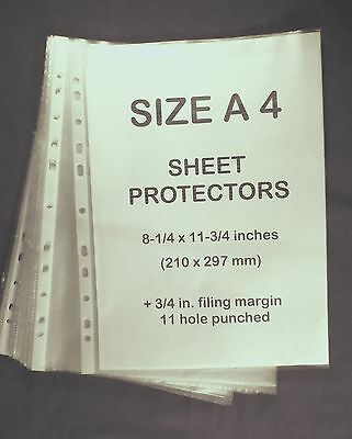 A4 Size Clear Plastic Sheet Protectors 10 Ct. Used