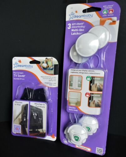 Dreambaby TV Saver - Child  Anti Tipping Over  - AND -  Multi Use Latches