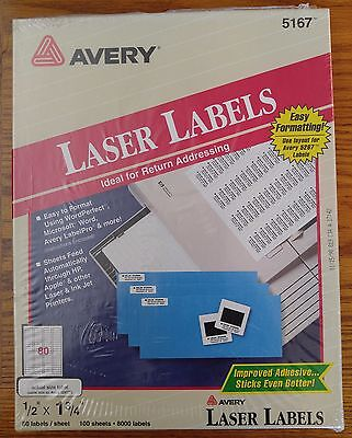 Avery Laser Return Address Labels 12 X 1 34 100 Sheets 8000 Only 39