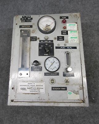 Meeco Instruments Model W W-pl-fpm Electrolytic Water Analyzer For Parts