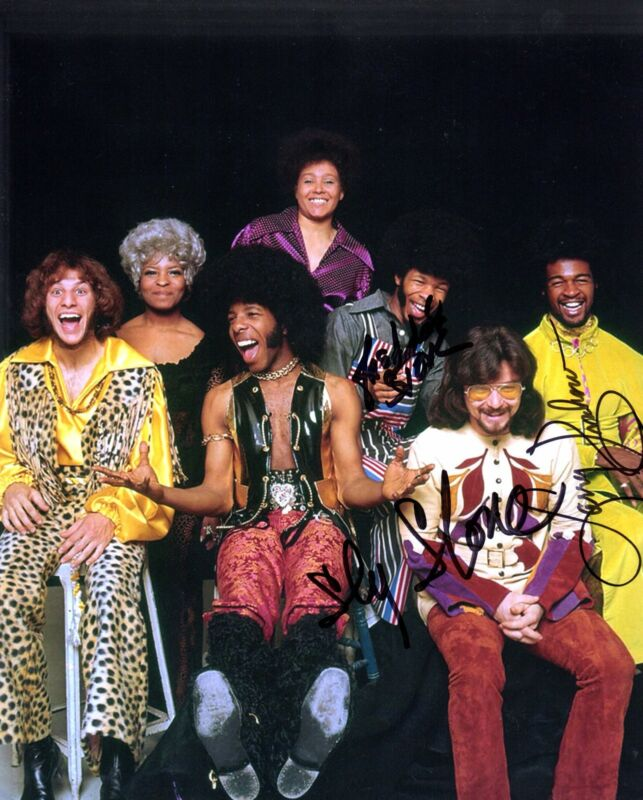 GFA Freddie Larry & Sly * SLY AND THE FAMILY STONE * Signed 8x10 Photo AD3 COA
