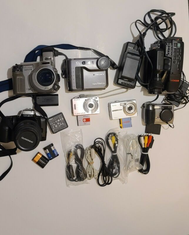 Camera Lot of 7 not tested  Parts Or Repair