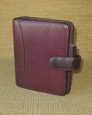 Compact Franklin Coveyquest Burgundy Leather 1.25 Rings Open Plannerbinder