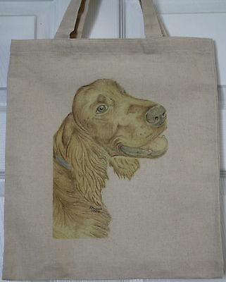 Irish Setter Dog Original Artwork on Canvas and Cotton Bags 2 designs
