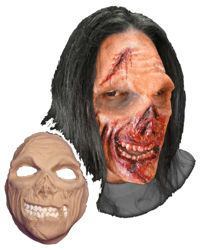 Hungry Zombie Face Foam Latex Prosthetic Theater Appliance