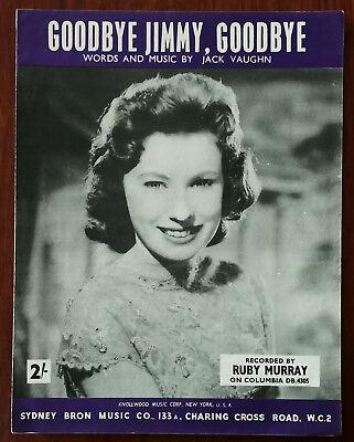 Ruby Murray – Goodbye Jimmy, Goodbye  – Pub. 1959