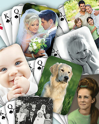 Personalised Playing Cards with own photo FREE P&P