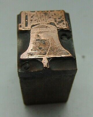 Printing Letterpress Printers Block Small Bell Copper Face