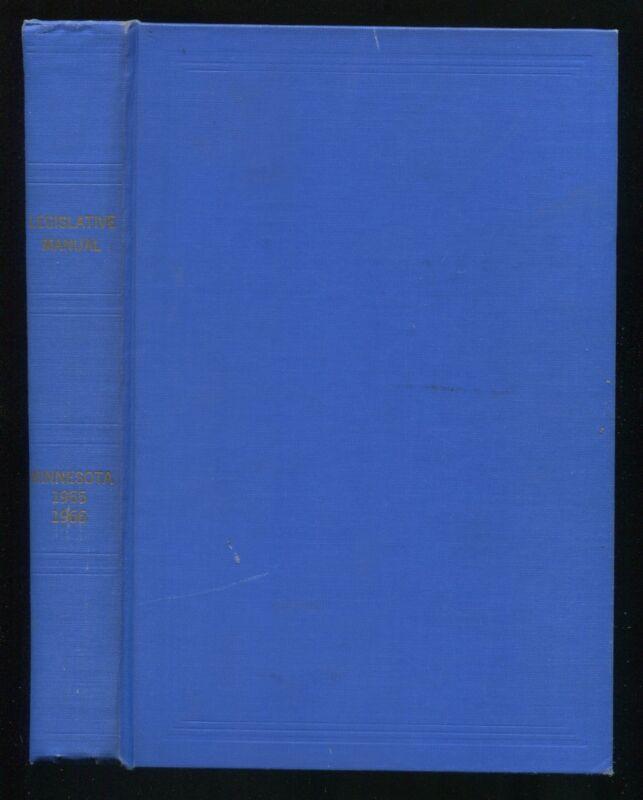 Vintage State Government Book  LEGISLATIVE MANUAL MINNESOTA 1965-1966 Donovan