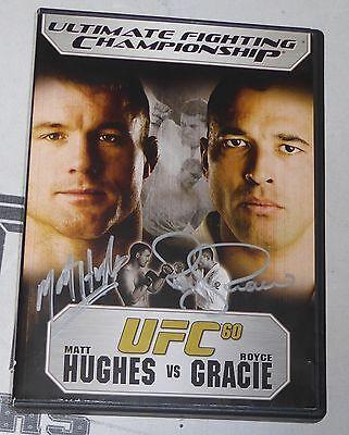 Matt Hughes & Royce Gracie Signed UFC 60 DVD PSA/DNA COA Hall of Fame Autograph