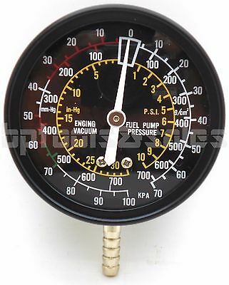 Fuel Pump & Vacuum Tester Accurate Engine Carburetor Valve Gauge Plug Tester Kit