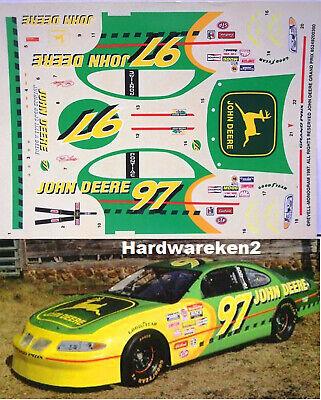 NASCAR DECAL #97 JOHN DEERE 1997 PONTIAC GRAND PRIX CHAD LITTLE - 1/24