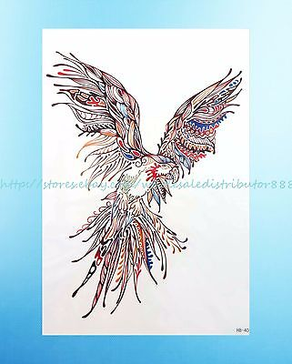 "flying bird 8.25""extra large temporary arm tattoo arm chest back makeup"