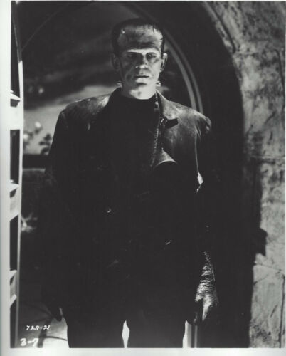 Boris Karloff as Frankenstein in 1931  8x10 black and white  glossy photo