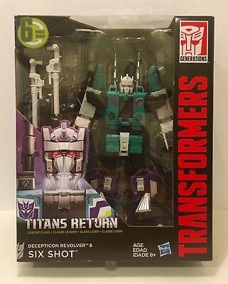 Transformers TITANS RETURN - Decepticon Revolver & SIX SHOT - Leader Class MIB