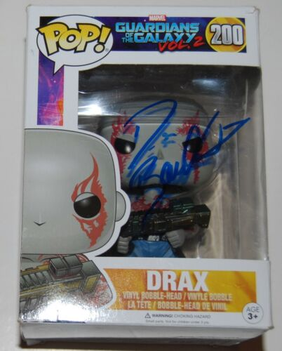 DAVE BAUTISTA signed (GUARDIANS OF THE GALAXY) DRAX Avengers Funko Pop W/COA
