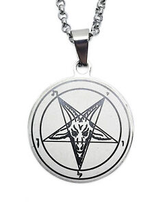 Sigil of Baphomet Stainless Steel Pendant Necklace