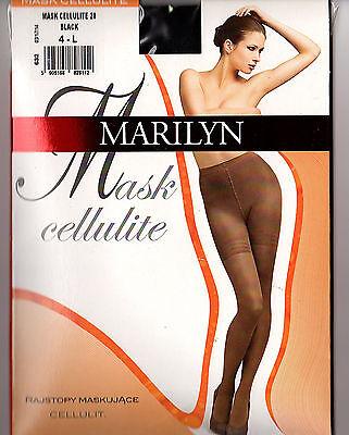 Strumpfhosen Maske (MARILYN Mask Cellulite ANTI Orangenhaut Strumpfhose schwarz oder beige Gr S-L)