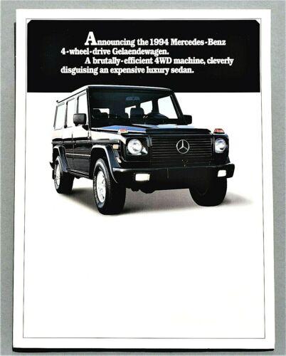 ORIGINAL 1994 MERCEDES G CLASS BROCHURE ~ (FIRST U.S. GELAENDEWAGEN) ~ 9 PAGES