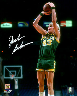 Signed 16x20 Hall Of Fame - Supersonics JACK SIKMA Signed 16x20 Photo #1 AUTO - Hall of Fame - 7 x All Star