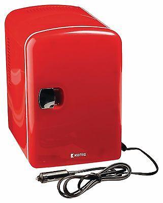 Mini Retro Design Heim KFZ Camper Kühlschrank Boot Wohnwagen tragbar mobil rot