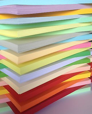 50 SHEET A4 170gsm CARD STOCK ASSORTED PACK CHOOSE FROM 25 COLOURS SCRAPBOOKING