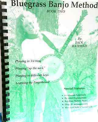 Bluegrass Banjo Method Book/CD 2 Jack Hatfield Graduated Approach Split-Channel, usado comprar usado  Enviando para Brazil