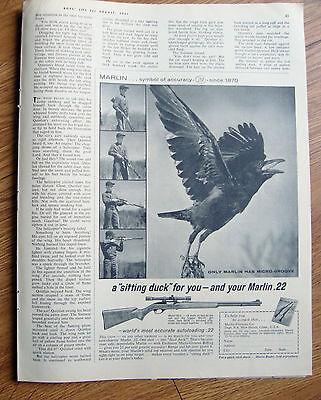 1961 Marlin 22 Rifle Gun Ad  Model 99-C Autoloading .22