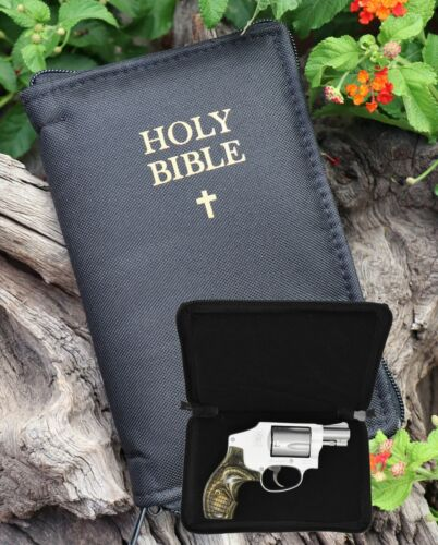 Conceal Carry Semi Hard Shell Bible Gun Case With Lock For Small Guns (GTS)