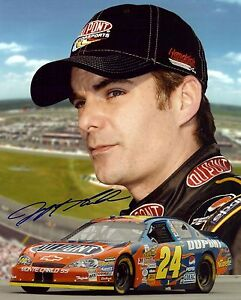Signed Preprint JEFF GORDON Autographed NASCAR Photo