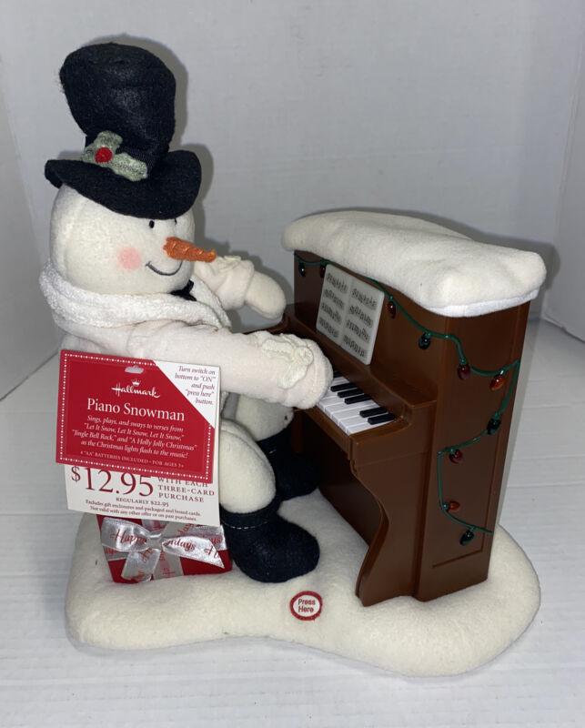 NO Movement Lights Plays Only Hallmark 2005 Jingle Pals Snowman Piano Plush READ