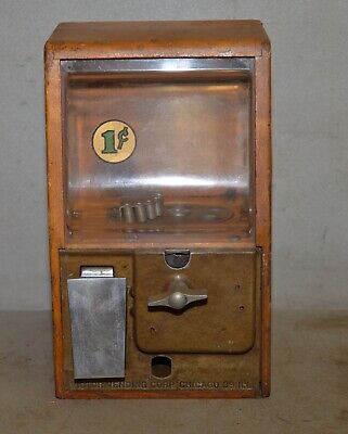 Victor Baby Grand 1950 oak case gum ball marble vending machine collectible