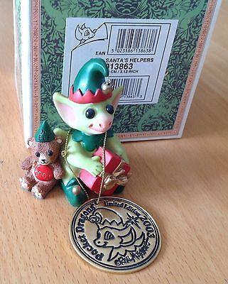 Pocket Dragon   SANTAS HELPERS  1ST UK  *Signed piece*  Mint & Boxed