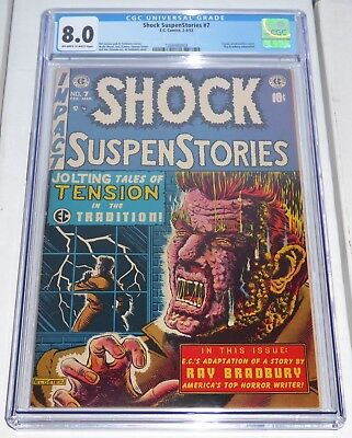 Shock SuspenStories #7 EC Comic CGC Universal Grade 8.0 Classic Electrocution 🔥