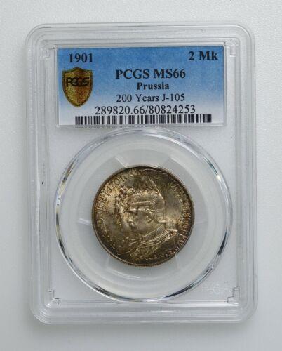 PCGS MS66 1901 Germany Prussia 2 Mark  K10041