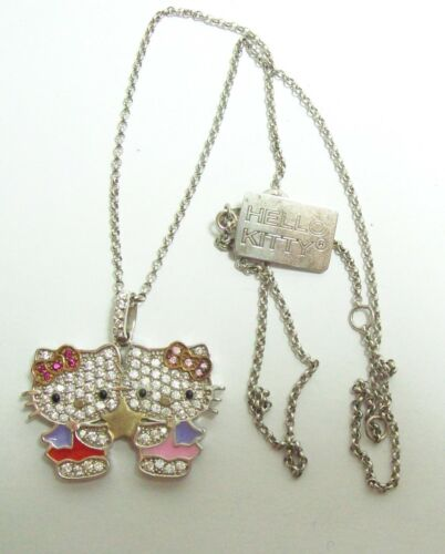 Sterling Glitzy HELLO KITTY Necklace