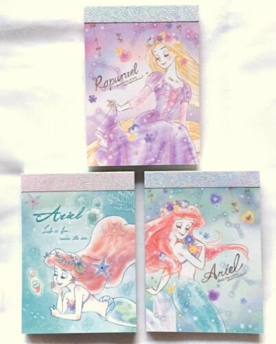 Disney Princess Mini Memo Pad 80 Rapunzel Ariel Stationery Kamio MADE IN JAPAN