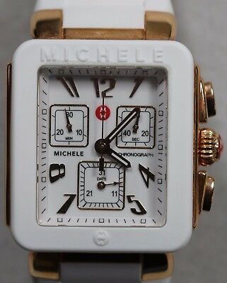 Ladies Michele Chronograph MWW06L00014 Jelly Bean SS Rose Gold Tone Case Watch - Jelly Bean Case