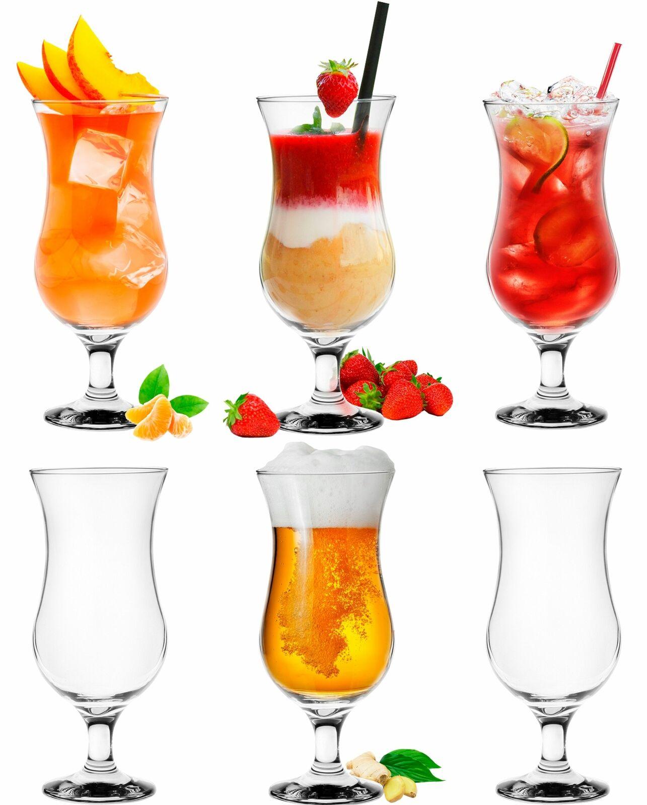Platinux Cocktailgläser 500ml aus Glas Set (6-Teilig) Longdrinkgläser Party Groß