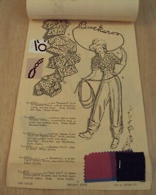1939 'JANE TAYLOR REPORTS'~Clothing DUDE RANCHES Illustrated Ad SAMPLES~LA CAL~