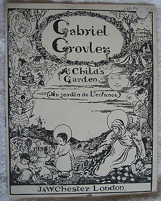 "Gabriel Grovlez ""A Child's Garden"" piano songbook sheet music Chester on Rummage"