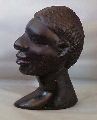 African Bust of Tribesman.. 5.5 inches x 13.5 cm