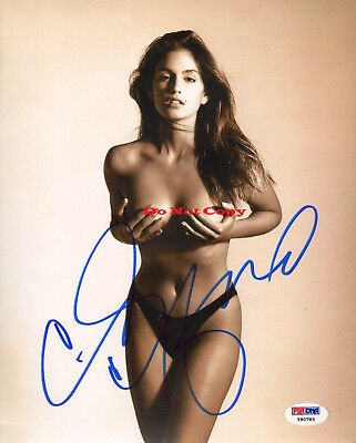 Cindy Crawford autographed Signed 8x10 photo RP