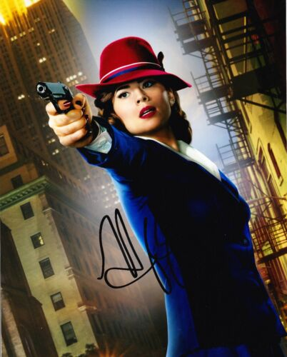 Hayley Atwell SIGNED 10X8 Photo Captain America Peggy Carter AFTAL COA (7550)