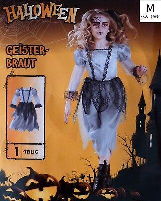 Kinder Karnevals Kostüm M Fasching Halloween Geister Braut Hexe Karneval Hexen  ()