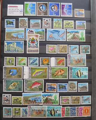 TANSANIA 1964-67  COMPLETE COLLECTION  mnh**/dt3053