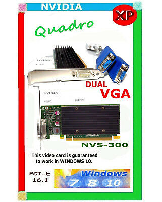 Windows 10 Dual Monitor Video Card  X16x Pci E  512Mb Ddr3  Driver Cd Quadro 300